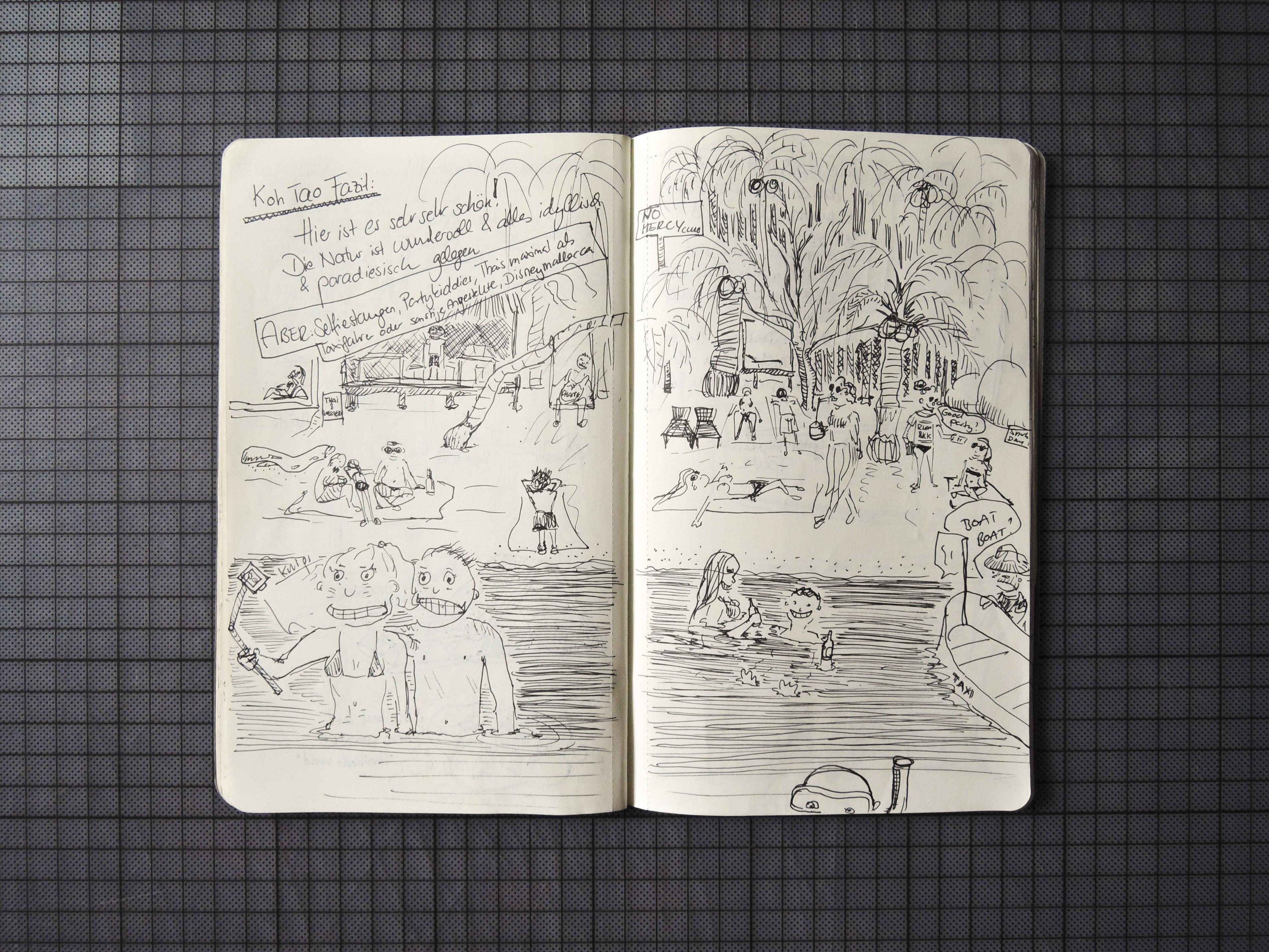Eindrücke von einem Strand auf Koh Tao